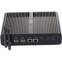 IHANSUN BM02 FANLESS Mini PC 8GRAM 128G SSD 1TB HDD Windows10 Linux INTEL i7-5550U WiFi