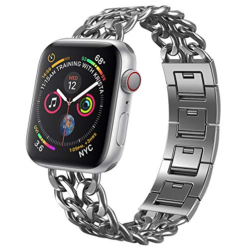 NO1seller Top Bands Compatible for Apple Watch 38mm 42mm, Metal Cowboy Style Bracelet Strap Replacement Wristband for Apple Watch Series 4 40mm 44mm 3/2/1,Sport,Nike,Edition