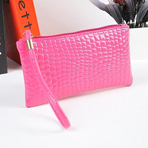 Purse Hot Kinrui Leather Clutch Women Pink Purse Bag Crocodile Coin Women Handbag rxqzqCv