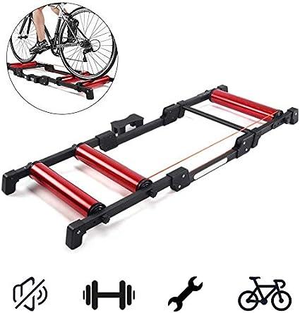 Indoor Bicycle Restance Training Bike Foldable Magnetic Trainer Fold Up Roller