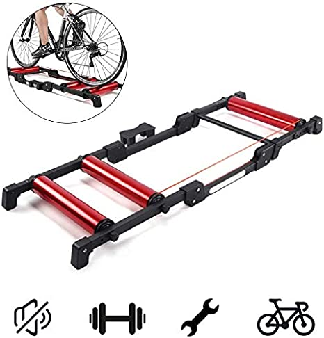 FHUILI Rodillos Bicicleta Plegable Moto - Cubierta de Bicicletas ...