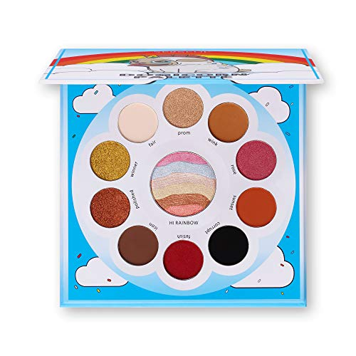 Serseul High Pigmented Eyeshadow Palette 6 Matte + 4 Shimmer +1 Facial Rainbow Highlight Creamy Texture Long Lasting Eye Shadow Cruelty Free