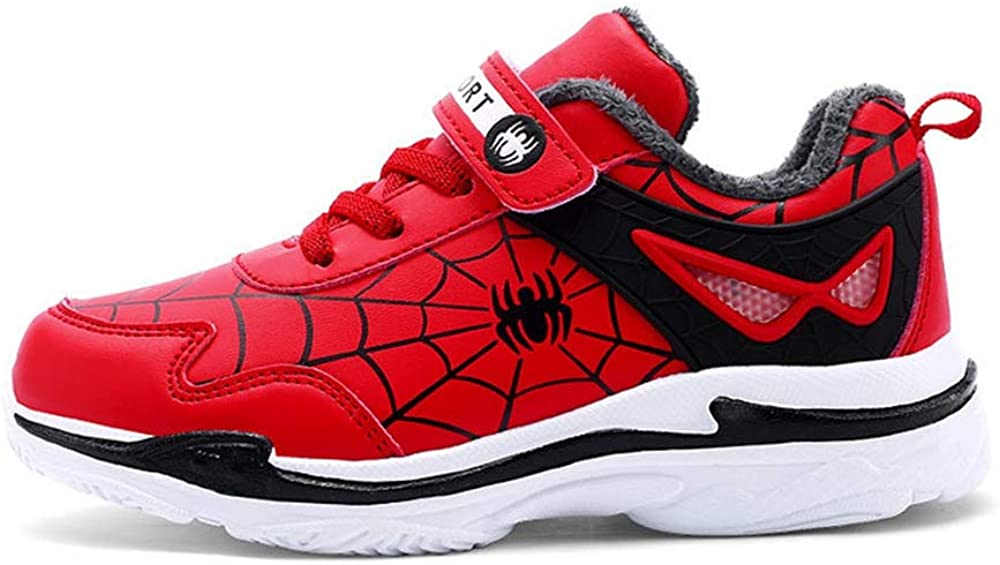 ANKIDS Fashion Kids Spider-Man Leather Sneakers Boys Girls