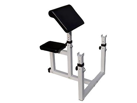 Missyee® Preacher Curl peso banco sentado – Banco de pesas (aislado Curl bíceps nuevo