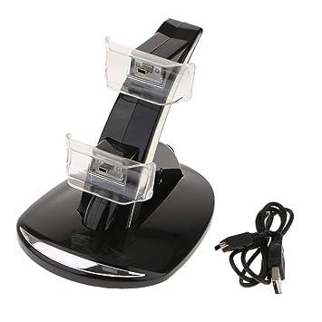 D DOLITY Soporte de Cargador de Controlador para Sony PS3 Dock Station Soportador de Doble Interfaz