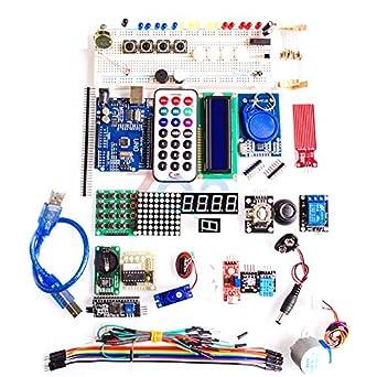 Amazon.com: Arduino UNO R3 Kit básico de iniciación de ...
