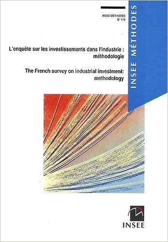 En ligne téléchargement gratuit L'enquête sur les investissements dans l'industrie : méthodologie pdf epub