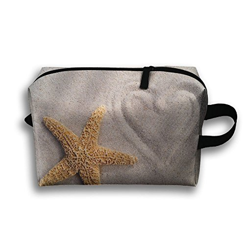 Beach Starfish And Love Travel Makeup Pouch For Women Cosmetic Case With - In Va Malls Beach