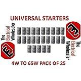 25 Fluorescent Tube Light Universal Starter 4w to 65w