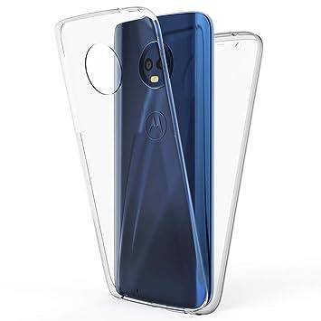 NALIA Funda Integral Compatible con Motorola Moto G6, Carcasa Completa con Cristal Templado, Ultra-Fina Cubierta Cover Delgado Bumper Cobertura Case ...