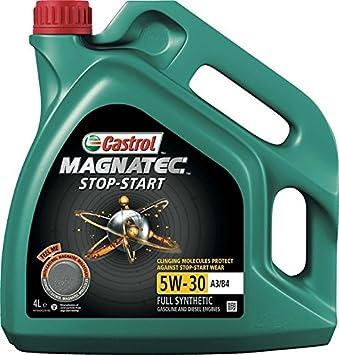 Castrol MAGNATEC Stop-Start 5W-30 A3/B4 Aceite de Motores 4L: Amazon.es: Coche y moto