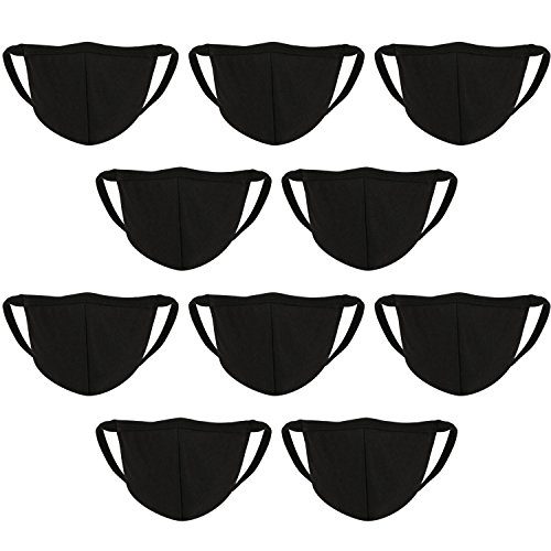 Amazon.com: BBTO 10 Pack Face Mouth Mask Anti Dust Cotton Masks Mouth Cover for Man and Woman (Black): Clothing
