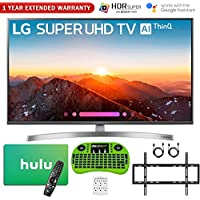 LG 49SK8000PUA 49-Class 4K HDR Smart LED AI Super UHD TV w/ThinQ (2018 Model) + Free $50 Hulu Gift Card + 1 Year Extended Warranty + Flat Wall Mount Kit Ultimate Bundle + More