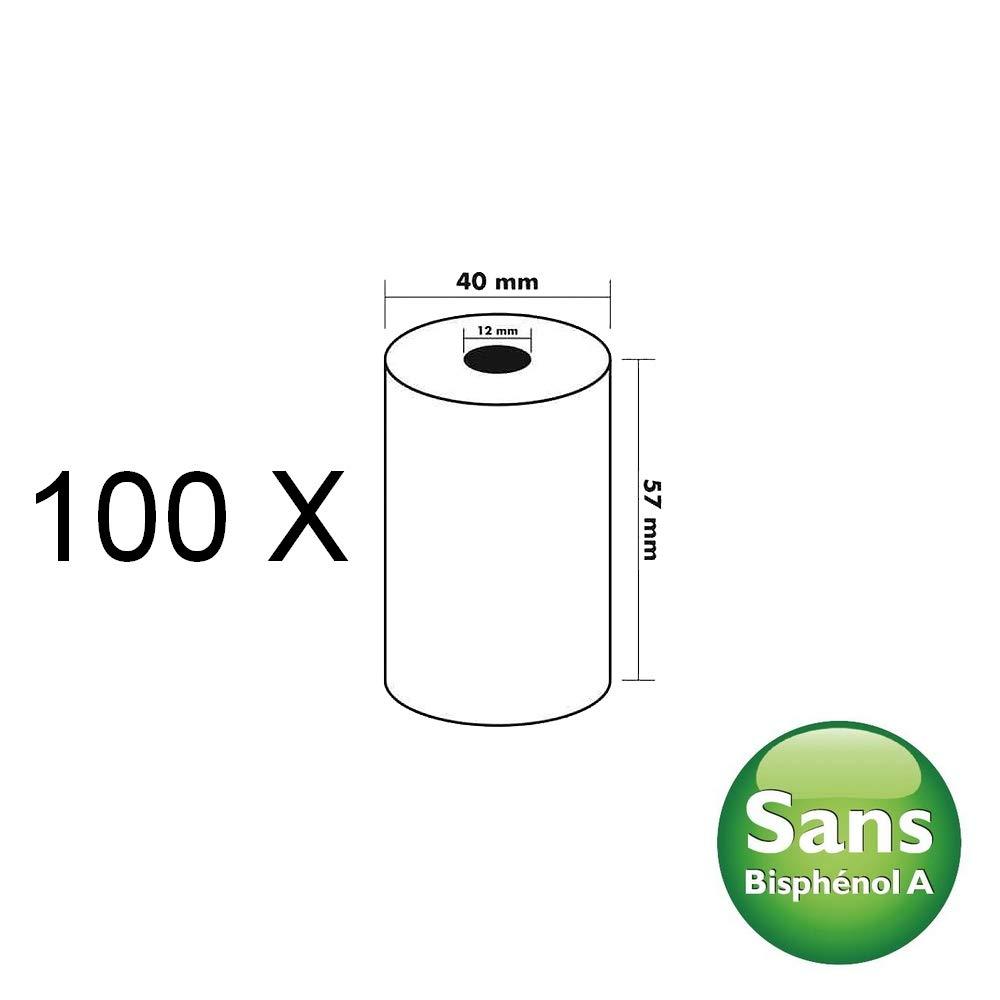 100 Bobines Carte Bancaire Thermique TPE Sans Bisph/énol A 57x40x12m