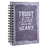 Purple Vintage Graphic Hardcover Wirebound Journal – Proverbs 3:5