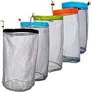Filfeel Mesh Stuff Sack Light Weight Nylon Mesh Drawstring Storage Bag for Travelling Hiking Camping Stuff Sto