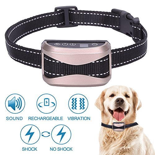 teemzone Dog Bark Collar Static Vibration Correction, USB Rechargeable 4 Training Modes All Breeds Sizes…