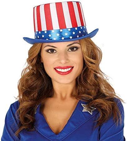 FIESTAS GUIRCA Sombrero de Copa Bandera Americana tio Sam EE.