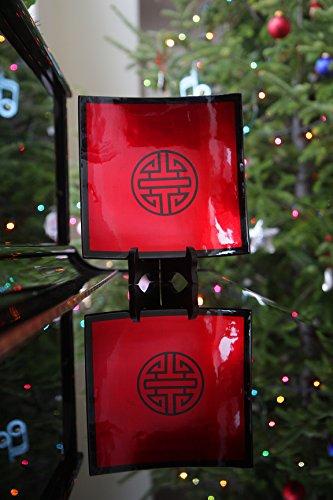 (Longevity Red Lacquer Plate-Vietnamese Lacquerware - 10