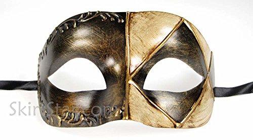 Unisex Adult Masquerade Mask (Black)