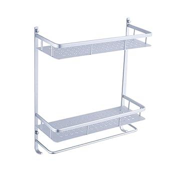 MILAYA JI Bin Shop® Artículos de baño Colocados Estantes Estante para Toallas Espacio Aluminio Toallitas de Cocina Colgante Tiene Gancho Simplicidad Moderna ...