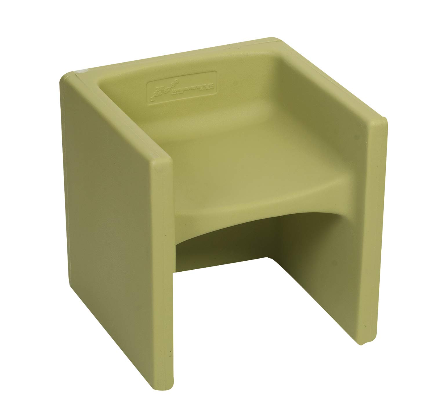 Children's Factory Cube Chair for Kids, Flexible Seating Classroom Furniture for Daycare/Playroom/Homeschool, Indoor/Outdoor Toddler Chair, Fern