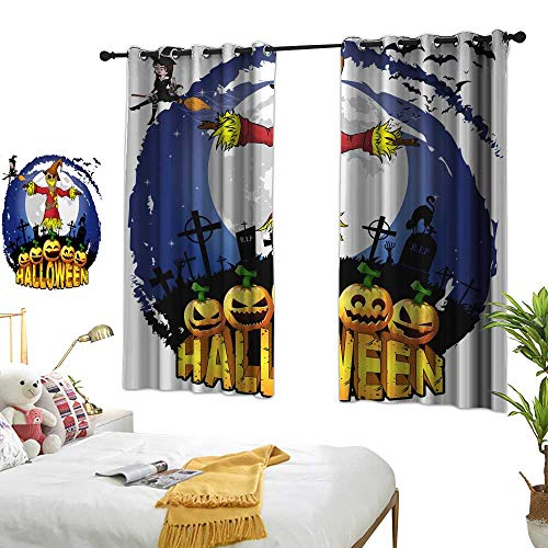 wwwhsl Personality Series Decoration Halloween Design Template with Scarecrow Vector Illustration Room Decoration Ideas W62.9 xL45.2]()