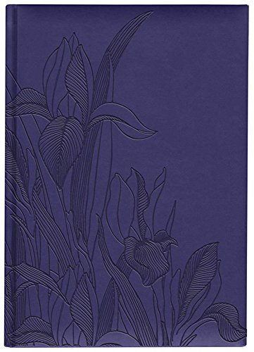 Iris Collection Large Hardcover Notebook with Padded Embossed Cover, Blue Violet (7706310)