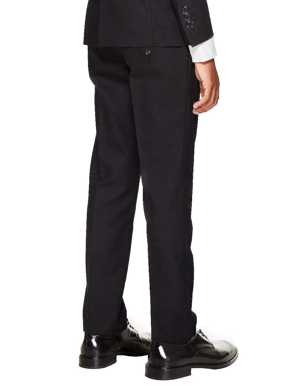 vkwear Boys Kids Juniors Slim Fit Flat Front Trousers Dress Pants Slacks