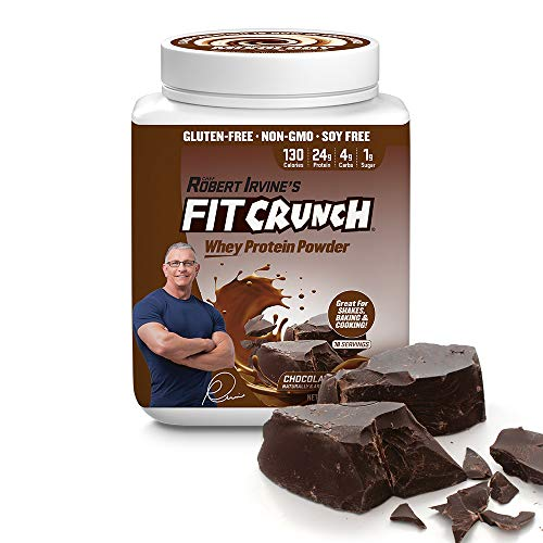 FITCRUNCH Tri-Blend Protein Designed by Robert Irvine 130 Calories, 24g of Protein 1g of Sugar Mixology Technology, Gluten Free, Soy Free Non-GMO Chocolate Deluxe