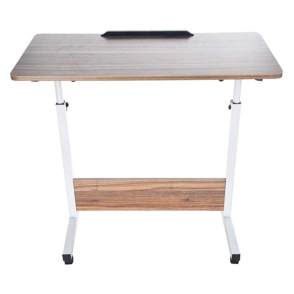POQOQ Laptop Stand Laptop Table Reading Pillow Bed Desk Standing Desk Converter Household Can Be Lifted and Folded Folding Computer Desk Lap Desk Bed Table
