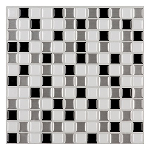 Ecoart Mosaic Peel and Stick Tile Backsplash for Kitchen Bathroom 10