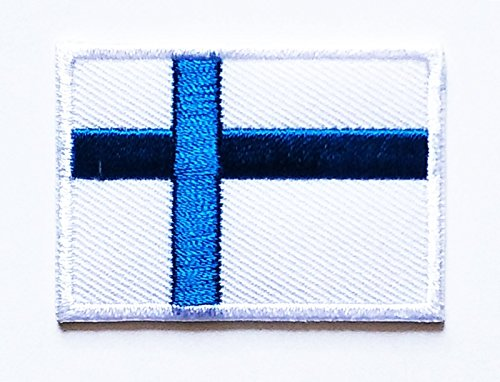 HHO Finland Flag patch National flag Patch Embroidered DIY Patches, Applique Sew Iron on for everyone Craft Patch for Bags Jackets Jeans Clothes Patch Jacket T-shirt Sew Iron on (National Costumes Of Finland)