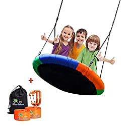 BLUE ISLAND Children's Tree Swing Hanging Ropes- 400lb Tree Swing Hanging Kit- Easy Installation Adjustable Hanging Ropes Included - Platform Swing Kids- Ideal Parties Birthday Gifts
