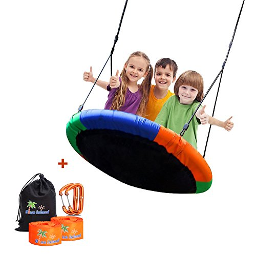 Children's Tree Swing with Hanging Ropes- 400lb Tree Swing Hanging Kit- Easy Installation with Adjustable Hanging Ropes Included - Platform Swing for Kids - Ideal for Parties and Birthday Gifts