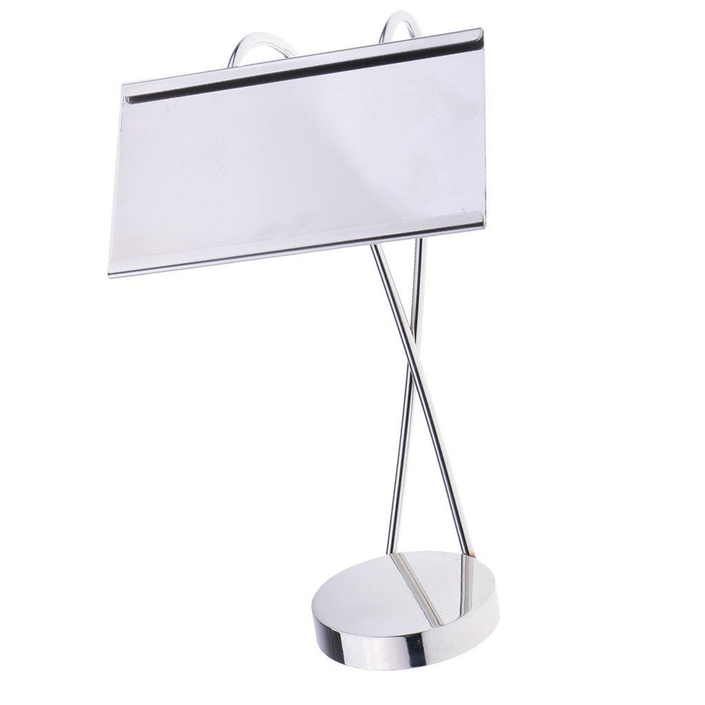 Baoblaze Stainless Steel Table Number Stand for Restaurant Hotel Party Dinner Decor - Silver, S
