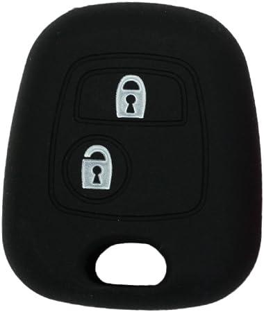 AAlamor Silicone Auto Chiave Caso Protector Cover Telecomando FOB per Peugeot 3008 208 308 Rosso