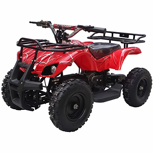 Sonora 350W 24V Electric Ride-On ATV for Kids, Red Spider
