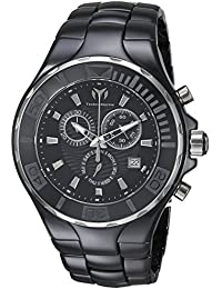 Mens Cruise Quartz Ceramic Casual Watch, Color:Black (Model: TM