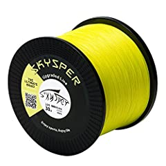 Specifications:- Name: Skysper 2017 Upgraded 4 Strands PE Braid Fishing Line- Brand Name: Skysper- Buoyancy Characteristic: Floating Line- Length: 500M / 1000M- Color: Green / Grey / Yellow- Material: Ultra High Molecular Weight Polyethylene ...