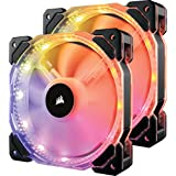 Corsair HD Series HD140 RGB LED 140mm High Performance RGB LED PWM Dual Fans with Controller Cooling (CO-9050069-WW)