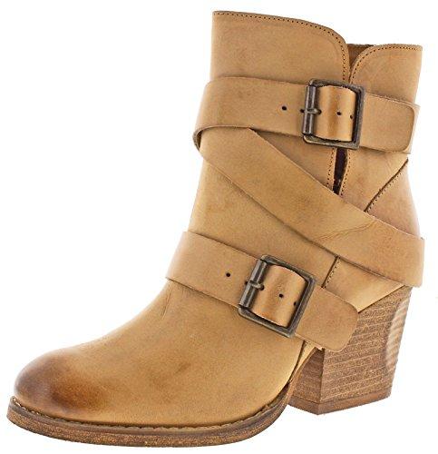 (Naughty Monkey Women's Cross My Heart Boot, Tan, 8.5 M US)