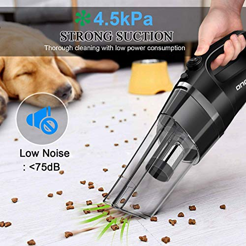 oneday Cordless Vacuum Cleaner Rechargeable Handheld Vacuum Cyclonic Suction Low-noise with 6 Accessories for Home Office Floor Car Pet