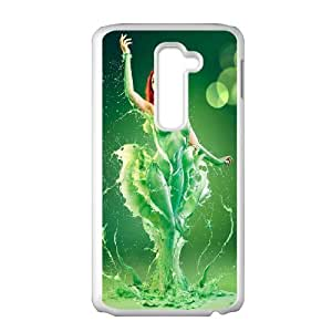 Paint Girl SANDY0085207 Phone Back Case Customized Art Print Design Hard Shell Protection LG G2