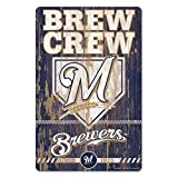 MLB Milwaukee Brewers 11-By-17-Inch Killen Print Wood Sign