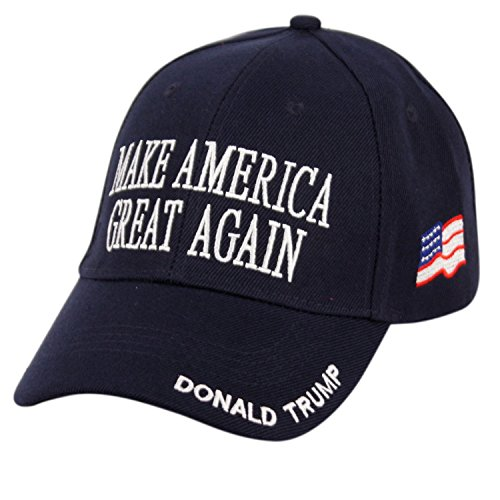 E-Flag Donald Trump Make America Great Again Hats Embroidered (Navy)