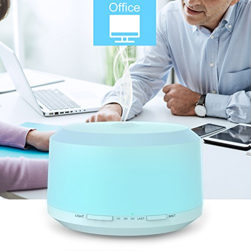 450ml-Essential-Oil-Diffuser-BAXIA-TECHNOLOGY-Aromatherapy-Diffuser-Ultrasonic-Humidifier-with-4-Timer-Setting-8-LED-Color-Moon-Light-and-Waterless-Auto-Shut-off