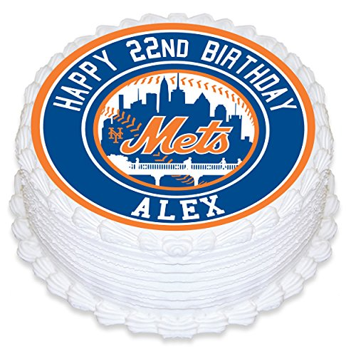 New York Mets Edible Image Cake Topper Personalized Birthday 8
