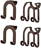 Spectrum 67924 Over The Cabinet Door Double Hook, Bronze - 2 Count