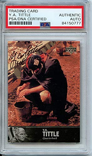 (YA Tittle Autographed Signed Trading Card (PSA Encapsulated))